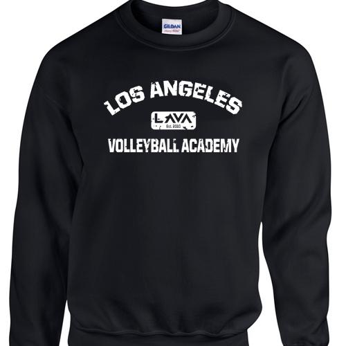 Merch - Black Crew Sweatshirt - Lava Distressed Logo White