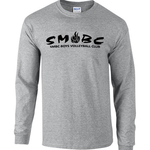 Merch - Gray Men's Long Sleeve - Smbc Logo